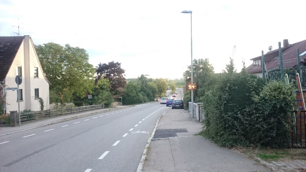 Ortausgang von Eggingen (Südwesten - Ringinger Straße)