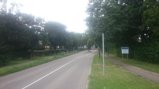 Ortseingang im Süden von Wiblingen